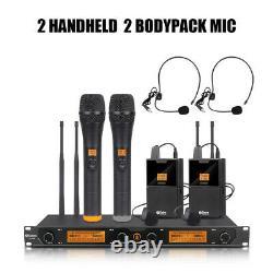 Debra Audio D-240 Système De Microphone Portatif Ou Sans Fil Lavalier Uhf 4 Canaux