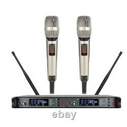 Dual Wireless Microphone System For Sennheiser Skm9000 Microphone Portable Uhf