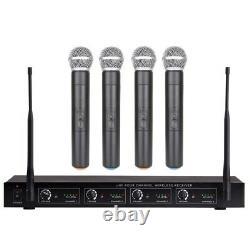 Ensemble De Microphones Sans Fil Uhf 4 Canal Professionnel 4 Ensemble De Microphones Portatifs
