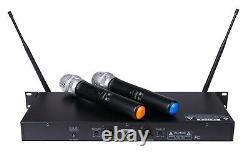 Gtd 2x100 Chaîne Réglable Uhf Sans Fil Microphone Portable MIC System 622h