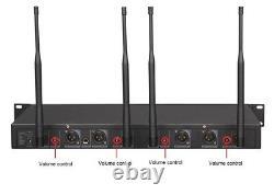 Gtd 4x800 Channel Uhf Diversity Wireless Handheld Microphone MIC System 787h