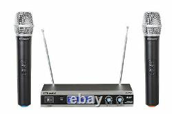 Gtd Audio 2 Channel Vhf Handheld Wireless Microphone System (marque Nouveau) V-28h