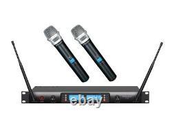 Gtd Audio 2x100 Canal Sans Fil Uhf Sans Fil MIC Système De Microphone 622h