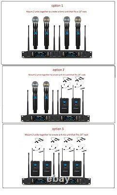 Gtd Audio 2x100 Channel Uhf Sans Fil Microphone Portable MIC System 260m