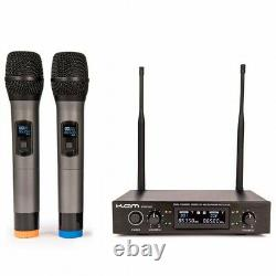 Kam Kwm1932 Dual Uhf Radio Microphone Système Sans Fil Portable Karaoke Dj