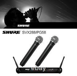 MIC Wireless Microphone Studio Audio Professionnel Shure Dual Vocal Svx288 Pg58
