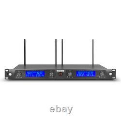 Microphone Sans Fil 4 Canaux 4 MIC Métal Portatif Pro Audio Uhf Karaoke