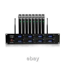 Microphone Sans Fil À 8 Canaux Et Système Récepteur 8 Micros Émetteurs Portatifs
