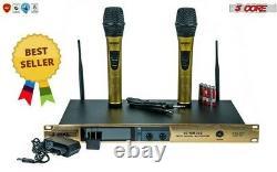 Microphone Sans Fil Dual Handheld 2 X MIC Cordless Receveur 5core Wm33e