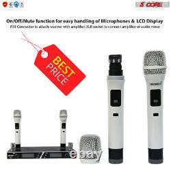 Microphone Sans Fil Dual Handheld 2 X MIC Cordless Receveur 5core Wm4102