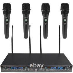 Microphone Sans Fil Uhf 4 Canaux Avec 4 Microphones Sans Fil Portatifs