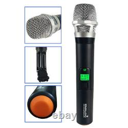 Microphone Sans Fil Uhf 4 Channel Pro Dynamic Handheld MIC Karaoke