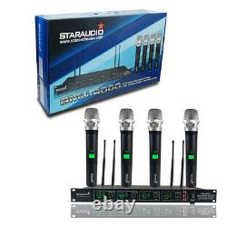 Microphone Sans Fil Uhf 4channel Pro Audio 4 Handheld Dynamic Karaoke MIC