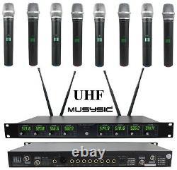 Musysic Professional 8-channels Uhf Système De Microphone Sans Fil Portable Mu-u8-hh