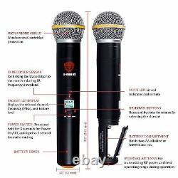 Nady U-2100 Ht Band A/b Dual Uhf Wireless Handheld Microphone System