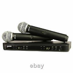 Nouveau En Box Shure Système De Microphone Sans Fil Uhf À Double Main Blx288/pg58 H10