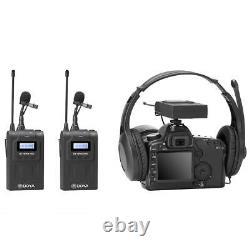 Nouveau Kit De Microphone Sans Fil À Double Canal Uhf Amélioré Boya By-wm8 Pro-k2