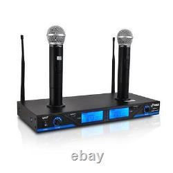 Nouveau Système De Microphone Portable 2 Uhf À 2 Canaux Avec Écran LCD À Quai Rechargeable