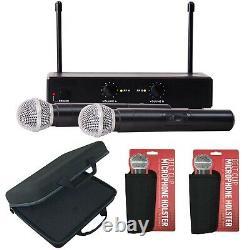 Pro Uhf Wireless 2 Channel Double Système De Microphone Portatif Karaoke Party MIC