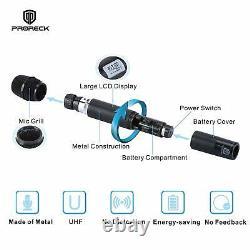 Proreck Mx44 Microphone Sans Fil Uhf 4 Canaux Avec 4 Microphones Portatifs