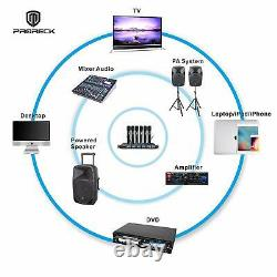 Proreck Mx66 Système De Microphone Sans Fil Uhf À 6 Canaux Avec 6 Microphones Portatifs