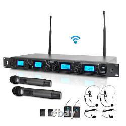 Pyle Pdwm4350u Uhf Wireless Microphones Handheld/belt-pack/lavalier/headset