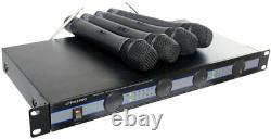 Pyle Pdwm5000 Support De Rack Sans Fil Porté À La Main 4 Quad Microphone Microphone MIC Kit