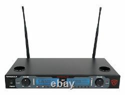Rockville Rwm2603ur Système De Microphone Sans Fil À Double Main Rechargeable Uhf