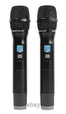 Rockville Rwm3300ua 200 Channel Uhf Wireless Double Handheld Microphone MIC System