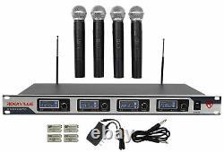 Rockville Rwm4200vh Vhf Sans Fil Quad Handheld Microphone System Avec Écran LCD