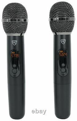 Rockville Rwm-4z Quad Wireless Uhf Handheld/headset Microphone System 20 Channel
