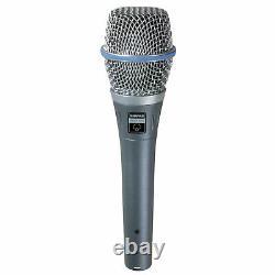 Shure Beta 87a Supercardioïde Électrète À Main Condenseur Vocal Microphone