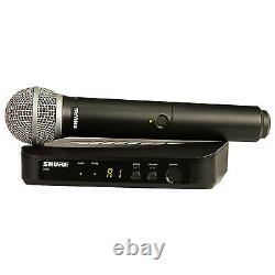 Shure Blx24/pg58 Système De Microphone Sans Fil Portatif + Câble + Étui