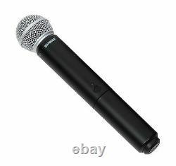 Shure Blx24/sm58 Système De Microphone Vocal Vocal Vocal Sans Fil Uhf