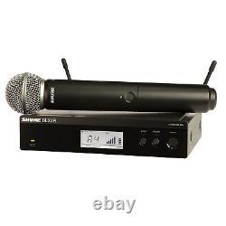 Shure Blx24r/sm58 Système De Microphone Vocal Sans Fil Dj Portable + Kit De Montage