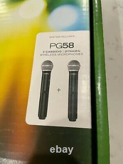 Shure Blx288/pg58-h10 Système De Microphone Sans Fil Portatif Dual À Peine Utilisé