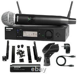 Shure Glxd24r/sm58-z2 Bande Système De Microphone Numérique Sans Fil Portatif