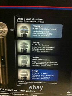 Shure Pgxd24/beta58 Wireless Handheld Vocal Cordless Supercardioid MIC System