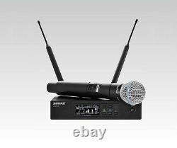Shure Qlx-d Beta58a Digital Wireless Handheld Microphone System Qlxd24/b58a G50