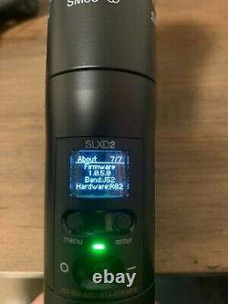 Shure Slxd2 Émetteur Sans Fil Portatif J52 Freq Avec Capsule Cardioide Sm58