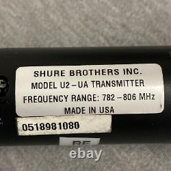 Shure Uhf U2-ua Sm58 782-806 Mhz Microphone Sans Fil À Main Noir