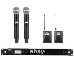 Shure Ulxd4d Dual Channel Handheld Beltpack Kit H50 Professional Wireless System