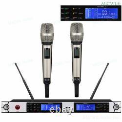 Skm9000 G3 Wireless 2 Microphones Dynamiques Portatifs Karaoke Stage MIC System