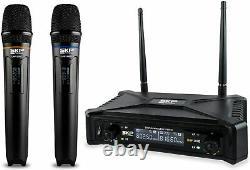 Skp Pro Audio Uhf-300d Système Numérique Sans Fil Vocal Dual Handheld Microphone