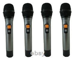 Système De Microphone Portable Sans Fil Uhf Diversity 4-channel (4x40 Fq) Mu-udx4-hh
