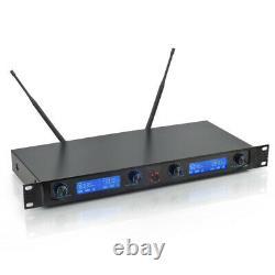 Système De Microphone Sans Fil 4 Handheld Metal MIC Pro Audio Uhf Karaoke 4 Channel