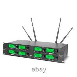 Système De Microphone Sans Fil Audio 8 Canaux Pro Uhf 4handheld 4 Casque Lavalier