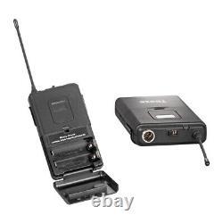 Système De Microphone Sans Fil Audio De L'uhf Pro 4 Canaux 2 Portable 2 Casque Lavalier