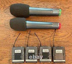 Système Radio 4 Voies Sennheiser, 4 Transmissions À Courroie Et 2 Transmetteurs Portatifs