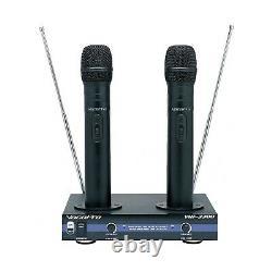 Vocopro Vhf-3300 Système De Microphone Double Sans Fil Rechargeable